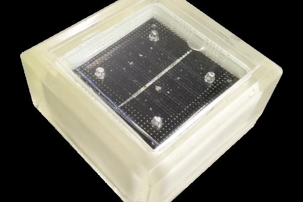 Устройство брусчатки на солнечных батареях